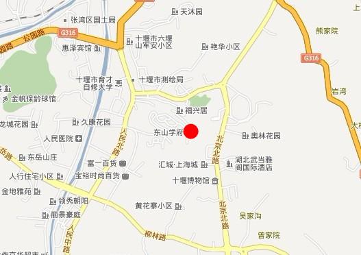 东山学府地图 周边楼盘
