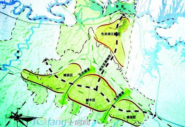 十堰未来规划图-大话东部新城的崛起之楼盘篇